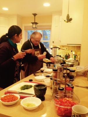 Dave making Alu - Gobi