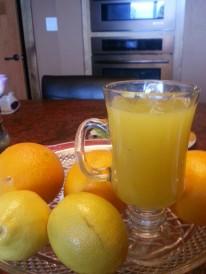 Fresh concoction of orange and lemon juice