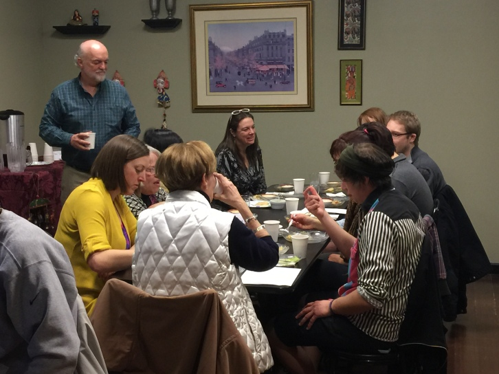 The Ex-Works table; Dr Liz Gundersen made it all happen