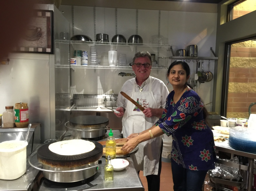My friend and excellent dosa helper - Paul
