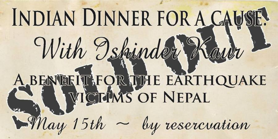 Indian Dinner for Nepal…… on May 15th  was a success
