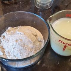 Flour blend & Whey/buttermilk blend