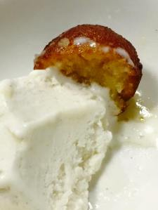 Gulab Jamun with Icecream