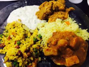Poha, Paneer, Pulao, Chicken & Raita