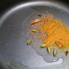 Add tumeric to the seasoning