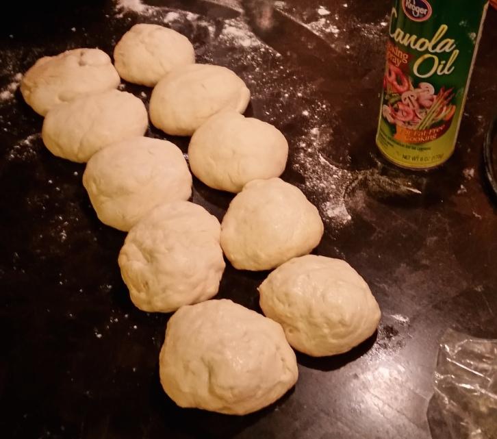 Shape dough into balls