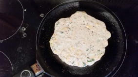 Pour the batter on a hot griddle