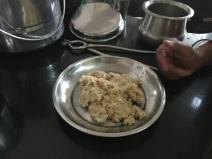 Dough pot on a flat plate