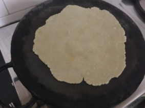 transfer it onto a hot griddle