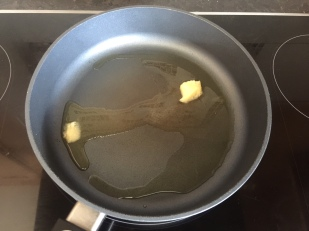 Add Ghee to hot pan