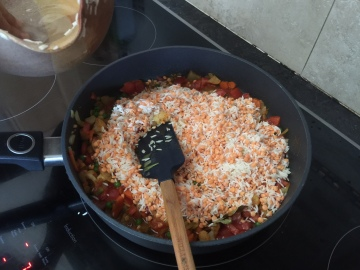 Saute rice and daal