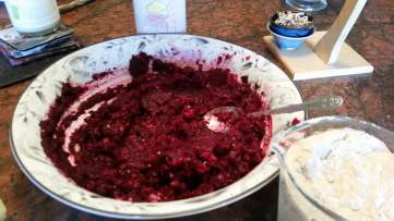 Mash the boiled beets