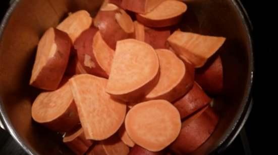 Chop Sweet Potatoes