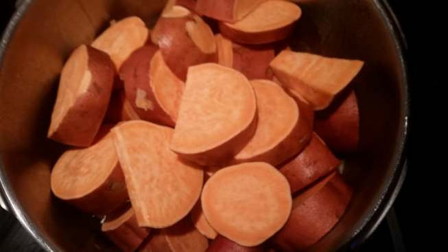 Chop Sweet Potatoes